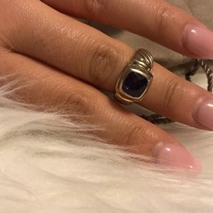 Amethyst Purple Stone David Yurman Ring